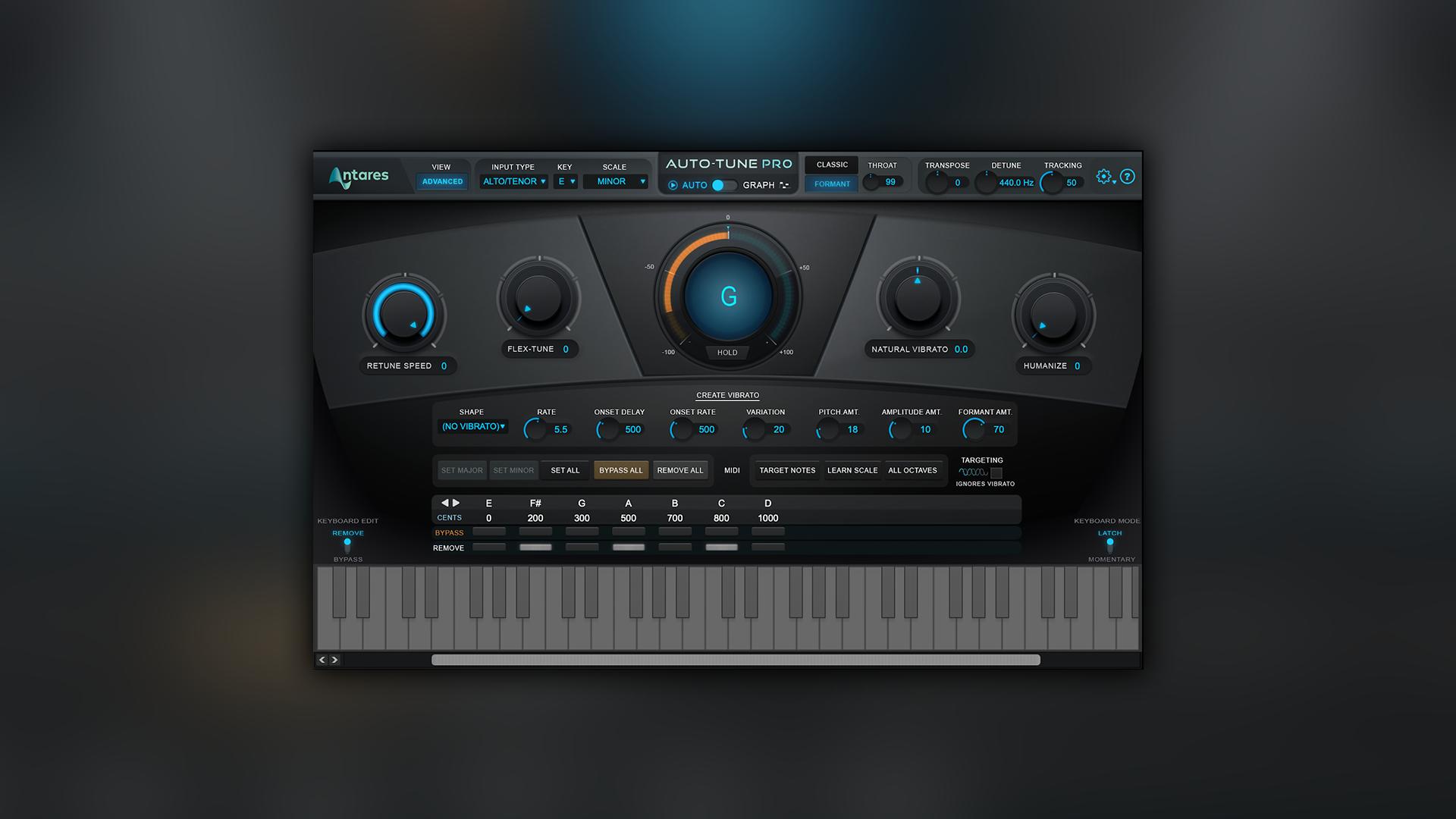 Auto-Tune Pro 音高修正效果器插件教程