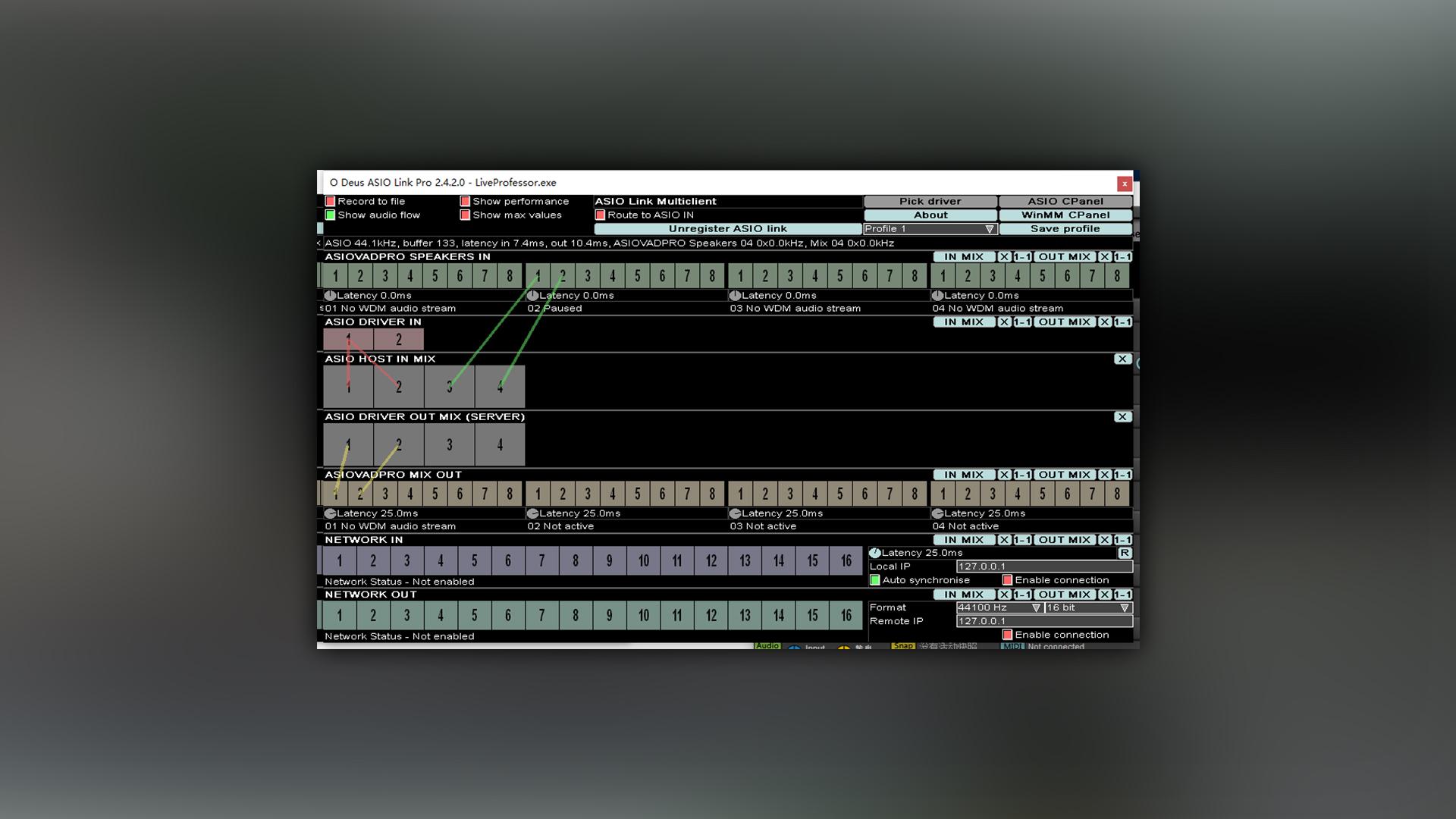 虚拟跳线软件 | ASIO LINK PRO | PC