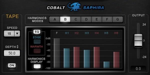 Waves 效果器插件技巧(2):Cobalt Saphira 让声音添加更多谐波